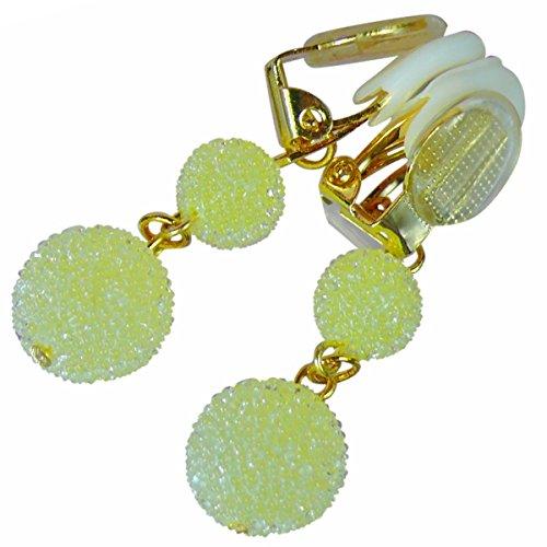 【Jewelry Hanazono】ラビアクリップ ラビアクリップ キャンディ ミルキーイエロー ボディジュエリー bodyjewelry ノンピアス ノンホール セクシー ラインストーン (ゴールド シリコーンゴム)