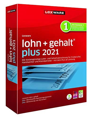 Lexware lohn+gehalt 2021|plus-Version Minibox (Jahreslizenz)|Einfache Lohn- und Gehaltsabrechnungs-Software für Freiberufler|Kompatibel mit Windows 8.1 oder aktueller|Plus|1|1 Jahr|PC|Disc