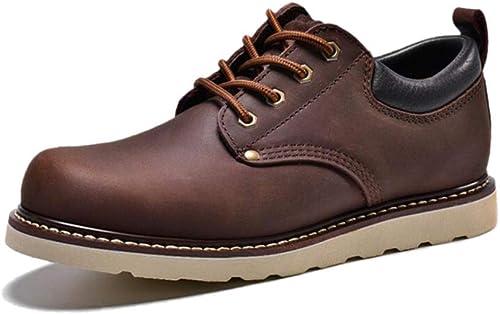 Derby zapatos Casuales De Hombre negros marróns naranjas Transpirables Hechos A Mano Vintage con Cabeza Grande