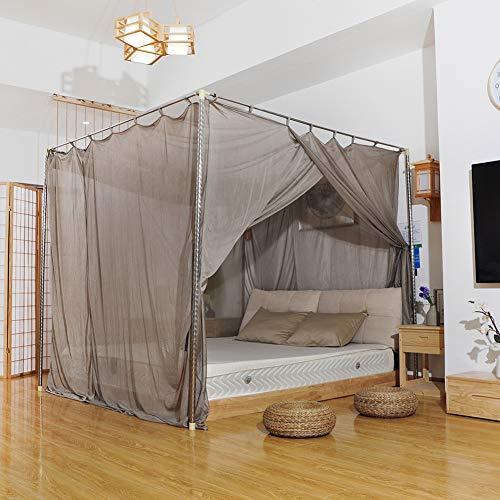 YourBoob Hoher Strahlenschutz/EMF-Blockierung/WiFi-Strahlenschutzbett Baldachin Anti-Moskito-Schlaflosigkeit Relief Retractable Canopy,86.6 * 86.6 * 86.6in