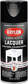 Krylon K07030 Lacquer Spray Paint Gloss Black, 12 Ounce Aerosol