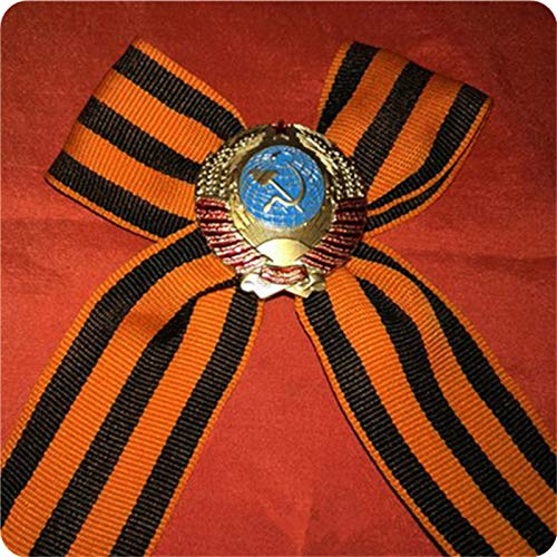 Eeng Russian red square souvenir, victory day corsage, miniature