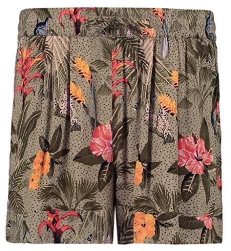 Garcia Kids Mädchen O02526 (158) Shorts, Mehrfarbig (Green Flower 1681), (Herstellergröße: 134)