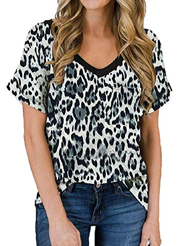 (50% OFF) V Neck Short Sleeve Loose Blouse  $11.99 – Coupon Code