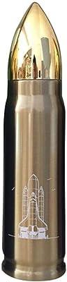 魔法瓶 水筒 ステンレスボトル 面白い 弾丸のデザイン ボトル 保温ポット 保温 大容量 500ml ステンレス マグボトル 登山 アウトドア プレゼント