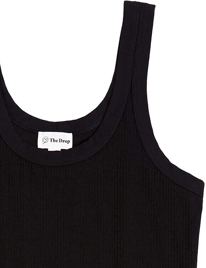 The Drop Women's Michelle Scoop Neck Fitted Tank Top