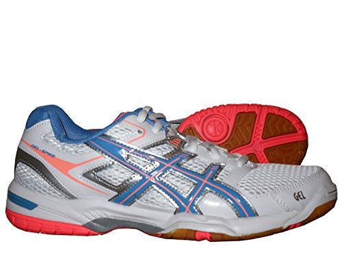 Asics Gel Spike 2 W Damen-Hallenschuh / Volleyball Indoor-Schuhe Weiß mit Gel-Dämpfung für Freizeit und Sport 42 Weiß