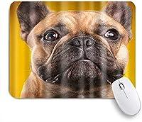 KAPANOUマウスパッド かわいい犬のテーマフレンチブルドッグ子犬 ゲーミング オフィス最適 高級感 おしゃれ 防水 耐久性が良い 滑り止めゴム底 ゲーミングなど適用 マウス 用ノートブックコンピュータマウスマット