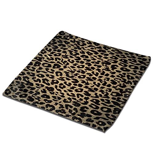 vintage leopardo impresión piel piel toalla cuadrada toalla de cocina absorbente toalla de baño moderna paños de secado rápido toallas de plato