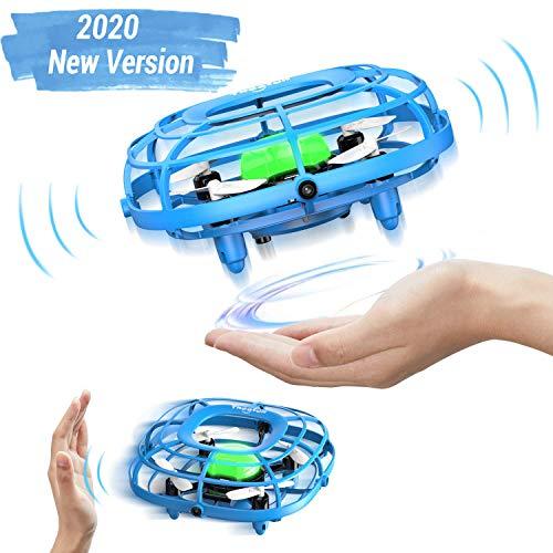 Theefun Mini Drone Luces LED, Uso con una Sola Mano, dron de fácil Control con 2 velocidades, Mini Ventilador USB de Mano, Juguetes para niños y niñas