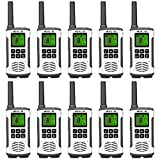Retevis RT45 Walkie Talkie Adult Rechargeable,Dual Watch Flashlight AA Battery FRS VOX,Two Way Radio Long Range,2 Way Radios,for Business Retail School Hotel(10 Pack)