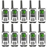 Retevis RT45 Walkie Talkies Rechargeable 22 Channel FRS Dual Power VOX Flashlight Long