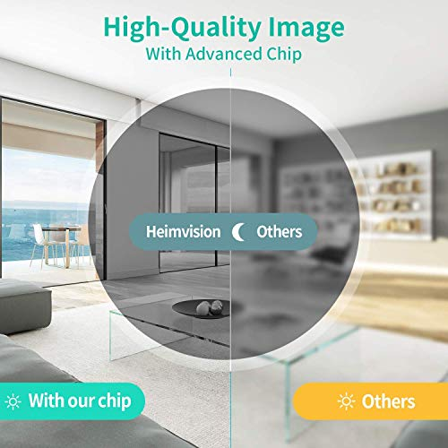 HeimVision HMD2 Wireless Rechargeable Battery-Powered Security Camera, 2-Way Audio, Night Vision, Waterproof Indoor/Outdoor Security Cameras with Cloud Service and MicroSD Card Slot