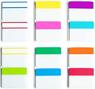 KIMCOME 2 Inch Sticky Tabs Index Tabs 240 Pieces, Page Tabs Flags Pages Markers Colored for Binder, File Folders and Notebook, [12 Colors] Writable, Repositionable, Durable