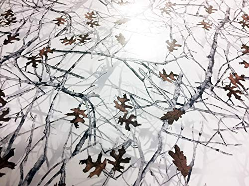3D Realtree Camouflage Folie Matt Version 5,Car Wrapping Schneetarn, Winter, Tarnfolie, Weiß 10m x 1,52m