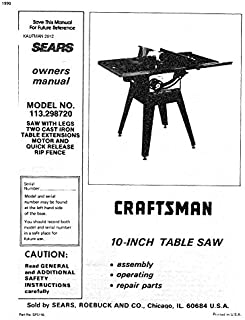 1990 Craftsman 113.298720 10