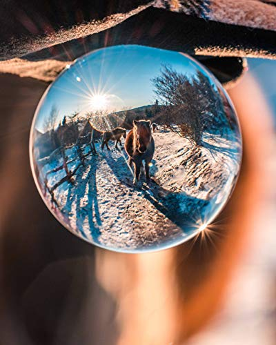 Original Lensball Pro 80mm, K9 Clear Crystal Ball Photography Sphere with Microfiber Bag