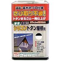 ニッペ 油性塗料 高耐久シリコントタン屋根用黒 14kg