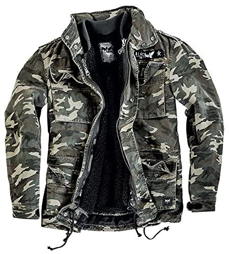 Black Premium by EMP Army Field Jacket Männer Winterjacke camouflage XL 100{d48c798592851a5f61f3890cf25cbfcf4f6a21de7520ce06186350e29981ef80} Baumwolle Basics