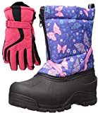 Northside Icicle Winter Snow Boots for Girls with Matching Waterproof Gloves, Size: 6 M US Big Kid - Purple/Pink (Purple)
