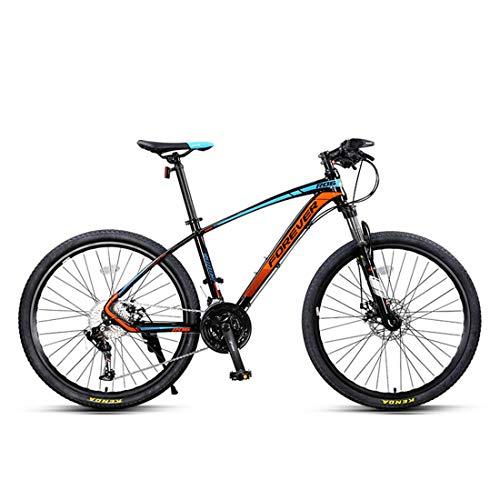 Marco de aluminio de moda Ciclismo de ciudad de 33 velocidades 26 pulgadas, bicicleta de montaña, azul