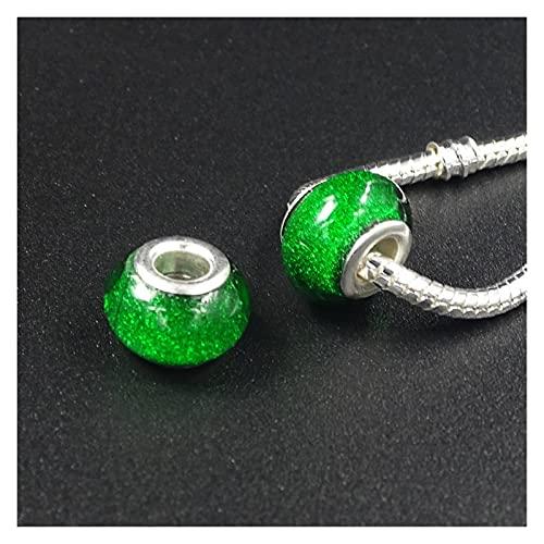 BOSAIYA DP 12 unids/lotes Perlas de Resina Sueltas Charm Pulsera y brazaletes Perlas de Vidrio DIY encantos Espaciador Cuentas espaciadoras y joyería TL609 (Color : 5)