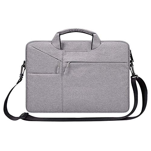 LICHONGGUI ST02S Waterproof Tear Resistance Hidden Portable Strap One-shoulder Handbag for 15.6 inch Laptops, with Suitcase Belt(Black) (Color : Light Grey)