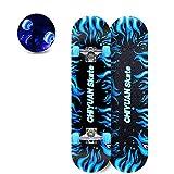 "hdfj12142 28"" x 8"" retro skateboards adult girl complete longboard skateboard LED Light"