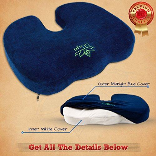 Coccyx Seat Cushion Butt Pillow -...