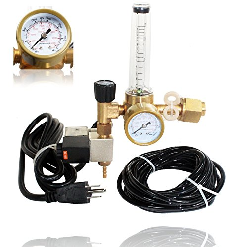 SPL Co2 Regulator Emitter System with Solenoid Valve Accurate and Easy to Adjust Flow Meter Made of Brass - Shorten up and Double Your Time for Harvesting!