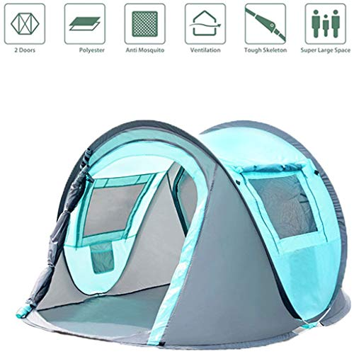 WEIE Family Camping Tents Dome Tents 3-4 People, Foldable Camping Tents for Kids Waterproof, Outdoor Tunnel Tents, Simple Light Automatic Pop-Up...