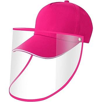 Dasivrry Unisex Safety Full Protective Facial Baseball Cap Sunhat Face Shields