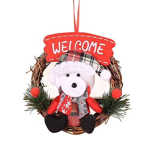 Kapokilly Guirnalda De Navidad, Pequeña Guirnalda Hotel Mall Puerta Aldaba Ventana Navidad Guirnalda Artificial Decoración De Puerta De Entrada Decoración De Acción De Gracias Guirnalda