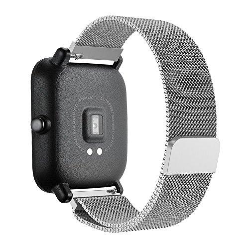 Pulseira de AÇO para Xiaomi Huami Amazfit Bip (Prata)