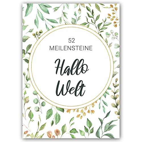 Dad's tales Baby Meilensteinkarten - 52 Baby Karten für das 1. Lebensjahr - Baby Fotokarten Box - Geschenke zur Geburt - Baby Milestone Cards made in EU
