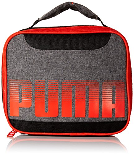 PUMA Boys' Little Backpacks and Lunch Boxes, Red/Black, Youth