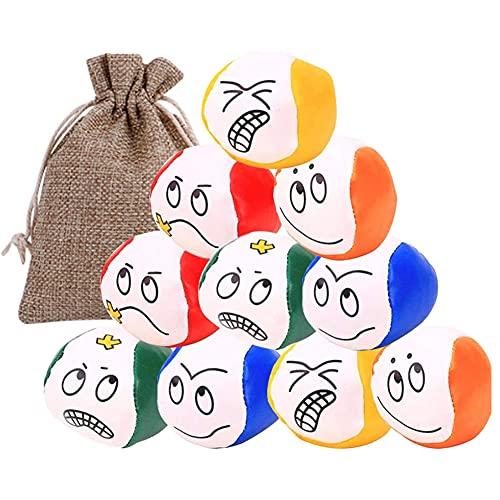 ARVOV Jonglierbälle für Anfänger, 10 STÜCKE Jonglierball Set, Jonglierbälle mit Naturfüllung, Jonglierball Mädchen und Jungen, pädagogischer Jonglierball für drinnen und draußen