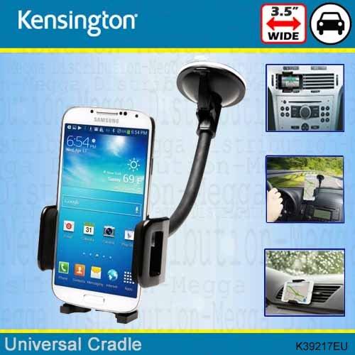 Kensington Universal Handy Wiege KFZ Air Lüftung und Windschutzscheibe Halterung–hält Smartphones bis zu 8,9cm/89mm breit