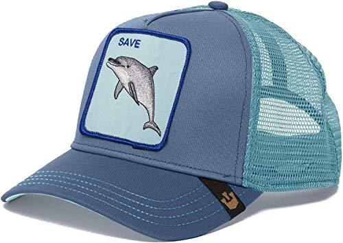 Goorin Bros. Animal Farm 'Save Us' Dolphin Snapback Trucker Hat Navy One Size