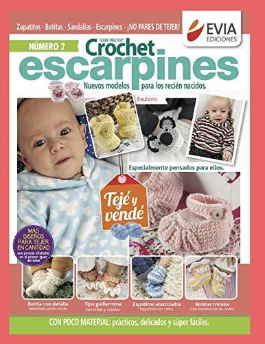 CROCHET ESCARPINES 2: novedosos modelos para los recién nacidos