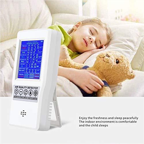 SEAAN Luftqualitätsmonitor PM2.5 Formaldehyd PM10 PM1.0 HCHO TVOC- Luftqualitäts Detektor mit LCD und Alarm, Gasdetektor für das Home Office