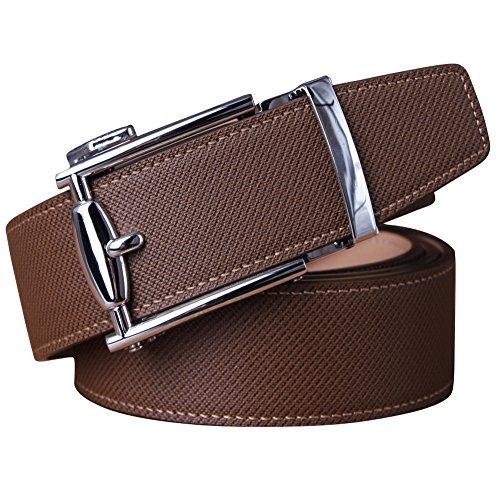 Weinida Hombres Cinturón De Cuero Negro Con Hebilla Diseñado para caballero LOWD-U1016-25