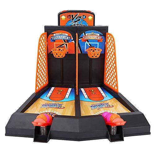Bnineteenteam Juego de tiros de Mini-Baloncesto para 2 Jugadores Juguetes para niños y familias