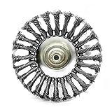 Fangxia Store Herramienta eléctrica de eliminación de 150 mm Cortadora de cesped Cabeza de alambre de acero Mover desbrozadora piezas polvo Oxidación deshierbe de ruedas for el jardín el motor del cés