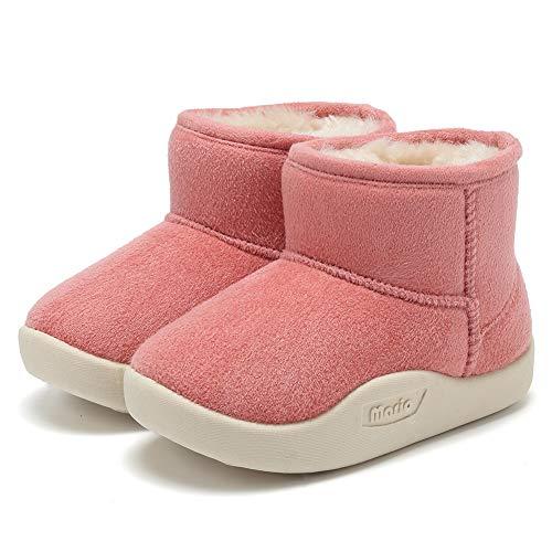CIOR Baby Toddler Snow Boots Winter Warm Infant Bootie Anti-Slip Kids Newborn First Walker Outdoor Shoes for Girls Boys U119ELTX02-Pink-170