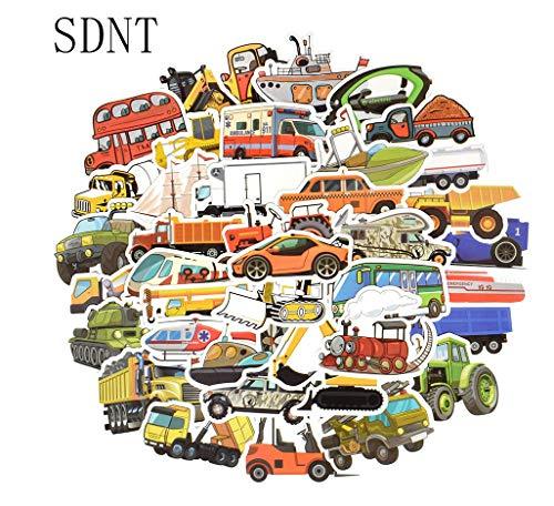 Votgl Sticker 50 STKS Vervoer Cartoon Sticker Speelgoed voor Jongens Auto Schip Vliegtuig Anime Sticker voor DIY Kids Speelgoed Kamer Leren Verkeer Tool