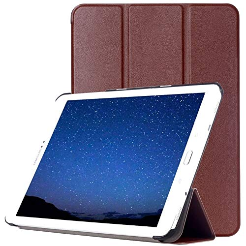 Ebogor para Para Samsung Galaxy Tab S2 9.7 / T815 Caso, Custer Texture Horizontal Flip Funda Protectora de Cuero con 3-Plegable (Negro) (Color : Brown)