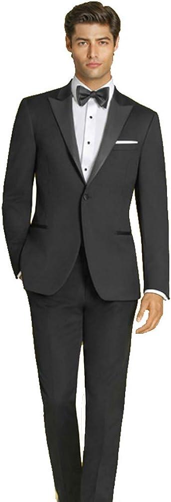 IKE Behar Slim Fit One Button Peak Lapel Tuxedo