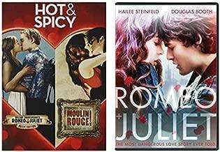 William Shakespeare - Leonardo Dicaprio - Romeo and Juliet (2013) + Romeo & Juliet (2016) + Moulin Rogue (Triple Feature Romantic DVD Set)