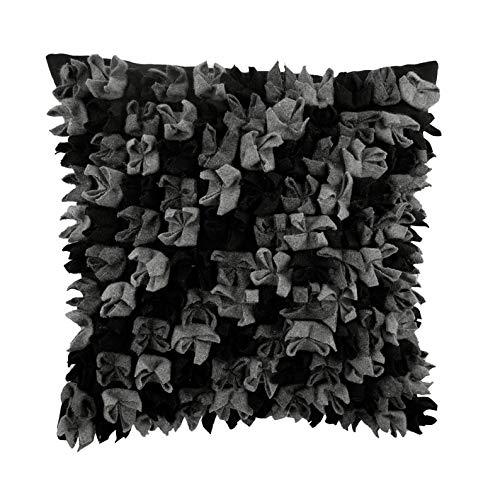 Negro Cubierta De Almohadas, Negro 3D Y Gris Modelo De Origami Cubierta De Almohadas, 50x50 cm Lanzar Fundas para Cojines, Moderno Fundas para Cojines, Sintio Funda De Almohada - Midnight Punch